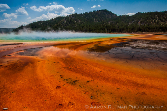 Reflections at the Grand Prismatic Spring, Yellowstone