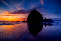 Haystack Rock Sunset, Cannon Beach, OR